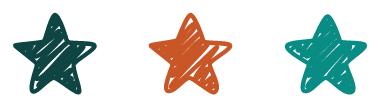 three stars divider